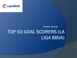 Goals in Liga BBVA
