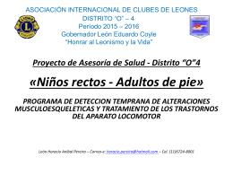 Proyecto Asesoría de Salud - Distrito *O*4