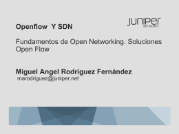 Openflow and SDN