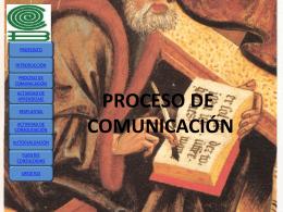 "PROCESO DE COMUNICACIÃ""N"