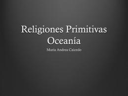 Religiones Primitivas Oceanía