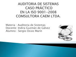 auditoria de sistemas caso práctico en la iso 9001