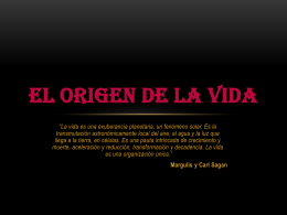 EL ORIGEN DE LA VIDA (294550)