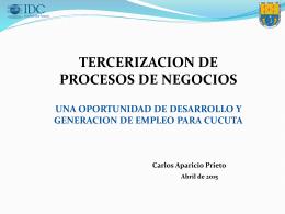 CARLOS APARICIO Cucuta2015