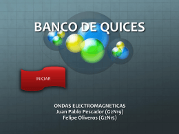 banco de quices ESPECTRO ELEC
