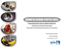 KRCC SA. コマツ Proyecto Sistema de enfriamiento banco de pruebas