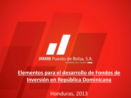 Diapositiva 1 - Cámara de Fondos de Inversión (CAFI) Costa Rica