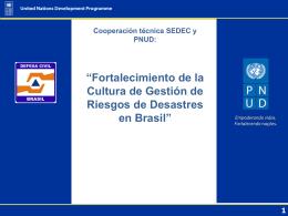 Desarrollo de capacidades de GRD en Brasil