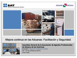 presentación asamblea perú 2010: lic. alejandro gutierrez