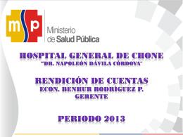 Presentación de PowerPoint - HOSPITAL GENERAL DE CHONE