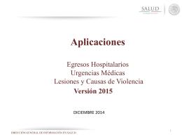 SAEH 2015 - Servicios Estatales de Salud