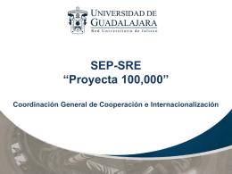 SEP-SRE Proyecta 100000