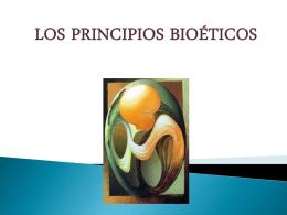 Los principios bioéticos