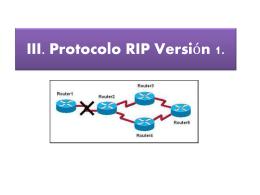 III. Protocolo RIP Versión 1 - redesdearealocal-utt