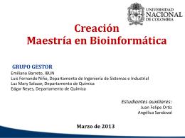 MaestriBioinf_Marzo -05-2013 - Facultad de Ingeniería de la