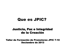 What is JPIC - Mary Ward Document Library
