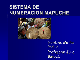 numeros mapuches