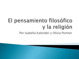 El pensamiento filosófico y la religión