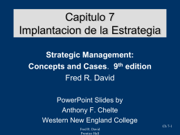Strategic Management Concepts & Cases Eighth Edition