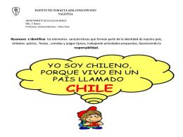 Mi país llamado Chile - Instituto Inmaculada Concepción Valdivia