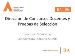 Dirección de Concursos Docentes y Pruebas de Selección