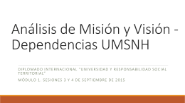 Análisis de Misión y Visión - Responsabilidad Social Universitaria