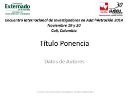 Formato para la exposición - Universidad Externado de Colombia