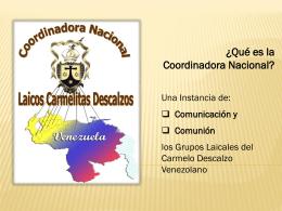 histo-coord - Carmelitas Descalzos Venezuela
