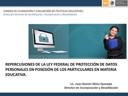 repercusiones de la ley federal de protección de datos personales