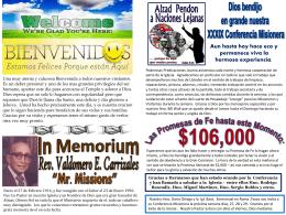 February 22 2015 Bulletin - Iglesia Bautista Puerta La Hermosa
