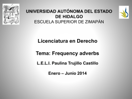 Frequency adverbs - Universidad Autónoma del Estado de Hidalgo