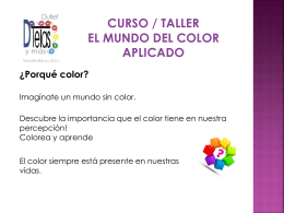 """curso - taller """"el mundo del color aplicado"""""""