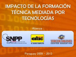 Impacto de la formación técnica mediada por tecnologías
