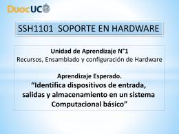 4.- Identifica dispositivos de entrada, salida y almacenamiento