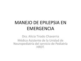 1. Manejo de Epilepsia en Emergencia