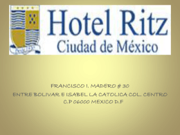 presentacion hotel ritz