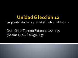 El tiempo futuro, p. 454