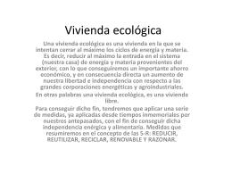 Vivienda ecológica