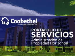Presentación de PowerPoint - Inmobiliaria y constructora coobethel