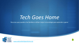 Presentation Template - the National Tech Goes Home Website