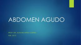 Abdomen Agudo Cuevas. HR