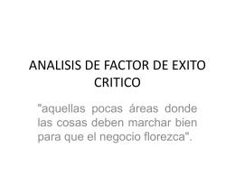 ANALISIS DE FACTOR DE EXITO CRITICO (114874)
