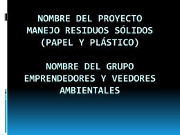 MANEJO DE RESIDUOS SOLIDOS