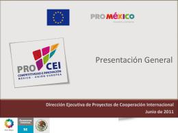 Facilitación Comercial y Negocios entre México y la Unión