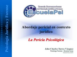 Pericia Psicológica - Escuela Iberoamericana de Psicología Jurídica