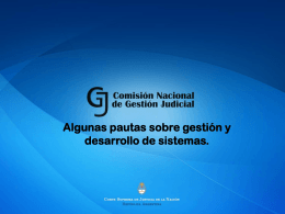 ¿Qué es la Gestión? - PNCJ – Plan Nacional de Capacitación Judicial