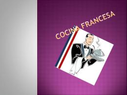 Cocina francesa - dgeti quintana roo
