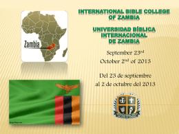 International Bible College of Zambia