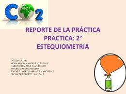 Reporte de Practica 2 Estequiometria