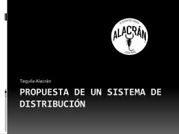 Propuesta de un sistema de distribución (Ejemplo ppt)